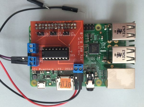 Ryanteck RPi Motor Controller Board on Model B+